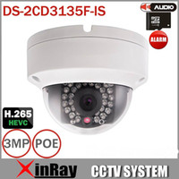 Multi-Lingua V5.3.3 DS-2CD3135F-IS 3MP Supporto H.265 HEVC Supporto TF Slot Doppia <b>Mini Camera Dome</b> IP Camera IP CCTV