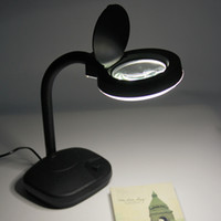 Wholesale Lighted Desk Magnifiers - Adjustable 5X 10X Tabletop Gooseneck Magnifying Glass Lamp Desk Light Jewelry