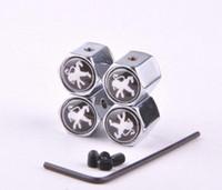 Silver 4PCS Lot Anti Theft Car Wheel Tire Valve Caps Covers For Peugeot 206 207 301 306 307 308 406 407 408 508 607 2008 3008 4008 5008