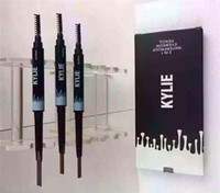 Wholesale Pen Comb - Kylie Jenner Cosmetics Double-end 3 Colors Waterproof Eyebrow Pencil Automatic Makeup Eyebrows Set With Eye Brow Comb Brush 2 in 1 Pen