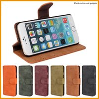 Wholesale Iphone Imitation - Flip Photo Frame Wallet Soft Imitation Leather Cover Cases For iphone 6 6 Plus Wallet Credit Card Holder Stand Fashion Frosted Feel Case