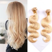 Wholesale Bleaching Machine - Passion 613 Blonde Color Brazilian Body Wave Hair Weave Bundles 10-30inch 100G Pcs Machine Double Weft No Shed