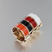 Wholesale enamel animal bracelets online - Stainless Steel enamel color H ring silver rose gold love ring for women men macth H bracelet
