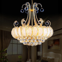 Wholesale Luxury Chandeliers For Dining Rooms - Luxury Vintage K9 Crystal Chandelier Traditional Gold Chandelier Lighting bohemian crystal chandelier Hanging lamps for Hotel Living room