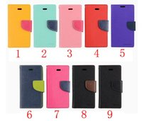 Wholesale Iphone 5c Folio - CHpost Mercury Wallet leather PU TPU Hybrid Soft Case Folio Flip Cover for iPhone 4 4s 5 5s SE 5c 6 6s 7 Plus with Package