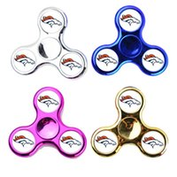 Wholesale Toy Baseball Bats - Chicago Cubs Team Logo Fidget Spinners LED Light Bat Spinners with 3 Flashing Decompression Baseball New York Yankees Logo Hand Spinner Toys
