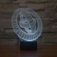 neue erstaunliche led großhandel-2019 neue kreative Art und Weise kleine 3D-LED-Lampe Amazing 3D Illusion Nachtlicht mit magischer Kreis Form 7 Farben