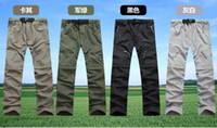 Wholesale Man Waterproof Trousers - Wholesale-High quality Men's quick-drying Leisure Travel active Removable hiking Waterproof Perspiration sports pants trousers