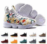 Wholesale Zip 12 - 2017 New Lebron 15 Basketball Shoes LBJ Sneakers James 15s High Top Zip Mens Soldier Casual Shoes For Men size 7-12