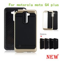 Wholesale Cell Combo - For motorola moto G4 plus G4 play xt1607 For LG G5 heavy duty rugged armor cell phone combo hybrid case cover skin shockproof