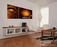 Wholesale Buddha Paintings Framed - Contemporary Feng Shui Painting Wall Art Print On Canvas Buddha Zen Arts Home Decor Set30244