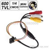 "Wholesale Cctv Covert Cameras - 600TVL 500MP 1   4"" HD Smallest Mini Camera Pinhole CCTV Camera CMOS Hidden Covert Cam Home Security Camera Audio Surveil"