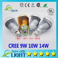 Wholesale downlight cob 14w resale online - DHL Dimmable Cree W W W V Led Globe Bulb E27 GU10 E14 B22 V Led Lamp Downlight Bubble ball Down Lighting
