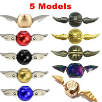 Wholesale Rainbow Wings - Newes metal fidget spinner 5 models Harry Potter Golden Snitch Gyro Torqbar Rainbow Cupid wings Hand Spinner Eagle Decompression Toys
