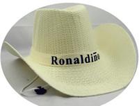 Wholesale Mens Cowboy Straw Hats Wholesale - Straw Braid Men Cowboy Hats with Buckle Western American Mens Hat Solid Western Cowboy caps