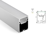 Wholesale Wholesale Lighting Parts - 50 X 1M sets lot Surface mounted led aluminium profile and 6063 big alu channel with curved parts for ceiling pendant lights