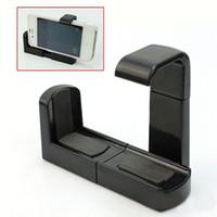штатив для мобильного телефона оптовых-Wholesale-Mobile Stand Clip Bracket Holder Monopod Tripod Mount Adapter for Mobile phone