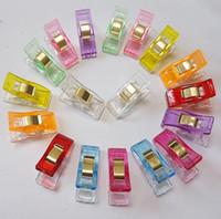 ремесленные ткани оптовых-10 цветов Пластиковые Зажимы Держатель для DIY Лоскутная Ткань Лоскутное Ремесло Швейные Вязание