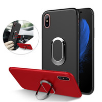 Wholesale iphone case - 360 Ring Car Phone Holder Case Magnetic Cellphone Cover Armor iPhoneX Case for iPhone Plus S Plus S SE