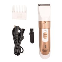 Wholesale Men Hair Wholesale - Low Price Original Kemei Rechargeable Electric Hair Clipper Beard Trimmer Hair Cutting Machine Haircut with Comb for Men