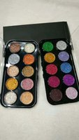 DISPONIBILE ! Palette Eyeshadow Glitter 10 Palette d'Ombra Glitter Ultra Pigmentate 2 forme DHL free Eyes Cosmetics