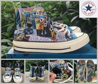 Wholesale Canvas Shoes Batman - 2017 Converse All Star 1970S Batman Shoes Women Men Casual High Top SuperMen Skateboard Canvas Brand Cartoon Designer Sneakers