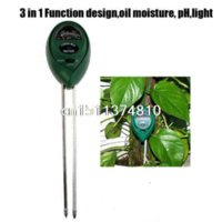 Wholesale Soil Free Shipping - hot-selling newest New 3 in1 Plant Flowers Soil PH Tester Moisture Light Meter hydroponics Analyzer Free Shipping