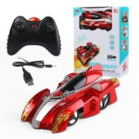 Wholesale wireless remote control car toys - Electric Remote Control Wall Climbing Car Wireless Electric Remote Control Cars RC Racing Car Model Toys 20pcs OOA3817