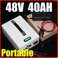 Wholesale Battery Solar 48v - 48V 40AH Lithium Battery ,multifunction 54.6V hand Portable RC Solar energy E-bike Electric Bicycle Scooter battery