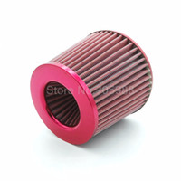 "Wholesale Ford Intake - 3"" 76MM Red Car Universal Air Cleaner High Flow Car Universal Air Cleaner High Flow Cone Cold Air Intake Filter Cleaner"