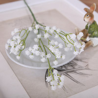 Wholesale Wedding Bouquet Flower Sets - Hi-Q 10 bouquet A set Artificial Flowers Gypsophila PU Gypsophila babysbreath Silk Flowers Plant Home Wedding party Flowers Decoration