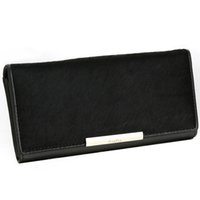 Wholesale Horsehair Wallets - Long leather horsehair Wallet Purse Handbag female female hand bag female fashion clutch