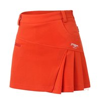 orange skorts - 2016 Newest PGM Woman Golf Skirt Summer Clothes Pantskirt Anti Emptied Golf Shorts Fashion Pleated Skirt Safety Wrinkle Skorts SIZE XS XL