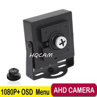 sicherheitsgläser großhandel-1080P OSD Knopf Mini AHD Kamera 3.7mm Pinhole Objektiv 2000TVL 2.0megapixel Mini Kamera CCTV Pinhole Überwachungskamera Innenkamera