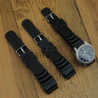 Wholesale 18mm Silicone Watch Strap - New Replacement Rubber Diver Watch Strap silicone Band for S11 SKX171 173KX779 781DAL1BP 22mm 20mm 18mm