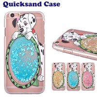 Case Carton Dog Quicksand Star For Cover Case Iphone 6 Case Bling BlingCase dur PC ultra-mince transparent pour iPhone 6S SCA167
