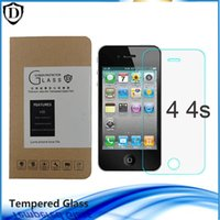Wholesale Iphone 5s Mm - for Iphone 4 4s 5 5s 5c tempered glass film 0.26 MM 2.5D Waterproof Tempered Glass Screen Protector
