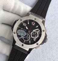 Wholesale Factory Big Man - New Men's Sport Watches HBB V6 Factory Mens Automatic Cal.4100 Chronograph Watch Men 28800 vph Rubber Eta Stainless Steel Date Big Stopwatch
