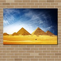 Wholesale Famous Paintings Posters - Famous Landscape Pyramid Painting on Canvas, Modern Prints Painting HOME DECOR Canavs Poster