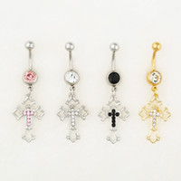 Wholesale Belly Cross - 0538 MIX colors styl belly ring belly ring style newly cross style Rings Body Piercing Jewelry Dangle Accessories Fashion Charm 10PCS