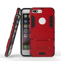 Wholesale Iphone Premium Hard Case - Iron Man Armor Case Heavy Duty Premium Tactical Grip Kickstand Shockproof Hard Bumper Shell For Iphone X 8 7 6 6s Plus OPPBAG
