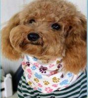 Wholesale dog collar bow tie - Wholesale 100pcs lot 2017 New Mix 50 Colors Adjustable New Dog Puppy Pet bandana Collar dog bandanas Cotton Pet tie SP01