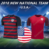 Wholesale Team Usa Football Jersey - 2018 USA UNITED STATES American National Team Soccer Jersey 17 DEMPSEY DONOVAN BRADLEY PULISIC calcio fútbol football HOT