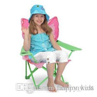Wholesale Children Butterfly Chair Baby Seat New Children Chair Outdoor Beach Camper RV Kids Bella Butterfly Fold Chair Sit Cup Holder Furniture