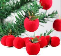 apfel geformte geschenke großhandel-Apple Weihnachtsbaum Dekoration Hängende Verzierung Weihnachtsgeschenk für Party Christmas Eve Apple förmigen Verzierungen auf Lager