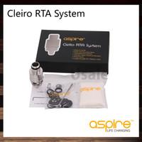 tanque de cubierta de velocidad al por mayor-Aspire Cleito RTA System con un flujo de aire tempestuoso de cubierta doble de velocidad de bobina para Cleito Tank 100% original