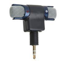 micrófonos para cámaras al por mayor-Micrófono estéreo 3.5mm Mic Adaptador USB Cable + Micrófono para cámara de acción deportiva 100-10 Respuesta de frecuencia