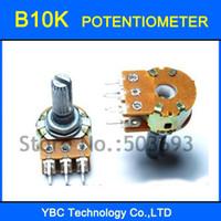 ingrosso potenziometro dritto-Potenziometro rotativo all'ingrosso dei 20pcs B10K 20MM 6 perni Trasporto libero