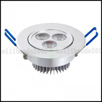 Wholesale Led Spots Bathroom 3w - 3W Power LED Recessed Ceiling Down Bulb Spot Cool White Light Lamp 85-265V LLWA220