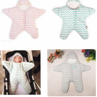 Wholesale stroller winter sack - Baby Sleeping Bags INS Starfish Swaddling Newborn Blankets Stroller Cart Swaddle Toddler Winter Wraps Nursery Bedding Sleep Sack KKA3489
